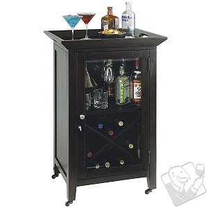 Howard Miller Butler's Wine Cabinet with Glass Door