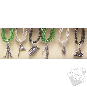Golf Lovers Wine Glass Charms