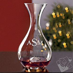 Monogrammed Wine Enthusiast U Wine Decanter