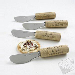 Wine Cork Cheese Spreaders (Set of 4)