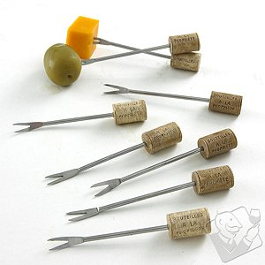 Wine Cork Cocktail Picks (Set of 8)