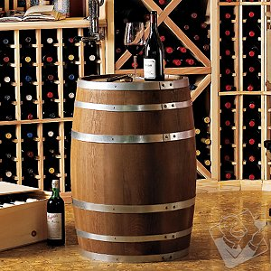 Decorative 30 Gallon Oak Wine Barrel - Wine Enthusiast :  holiday wine cellar gifts for him gift