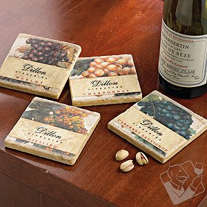 Personalized Vineyard Coasters (Set of 4)