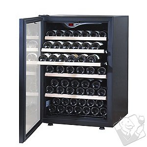 EuroCave Comfort 101 Wine Cellar (1-Temp) (Black - Left Hinged Glass Door)