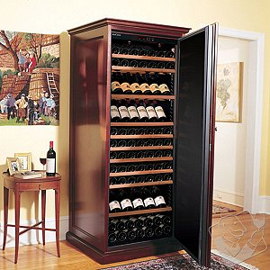 EuroCave Performance 283 Elite Wine Cellar (1-Temp) (Mahogany - Solid Door)