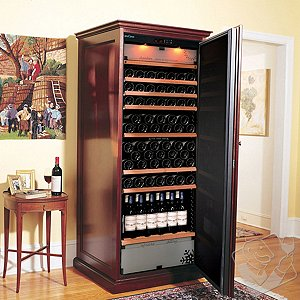 EuroCave Performance 283 Elite Wine Cellar (3-Temp) (Mahogany - Solid Door)
