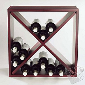 Click here for 24 Bottle Compact Cellar Cube Wine Rack (Mahogany) prices