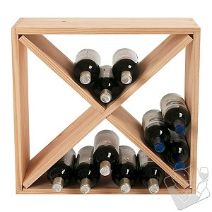 Click here for 24 Bottle Compact Cellar Cube Wine Rack (Natural) prices