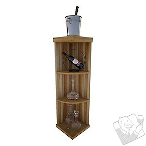 Vintner Designer Wine Rack Kit - Quarter Round Shelf Rack (Redwood Natural)