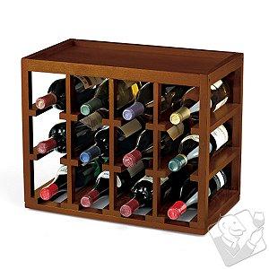 12 Bottle Cube-Stack Wine Rack