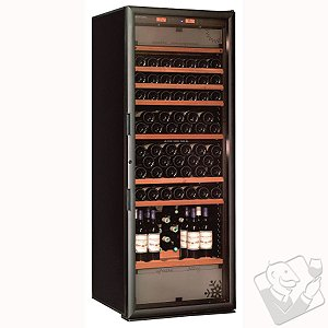 EuroCave Performance 283 Service Package Triple Zone Wine Cellar (Black - Glass Door)