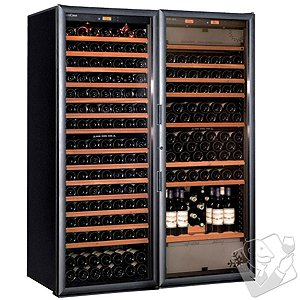 EuroCave Performance 500 Hybrid Complete Package Multi-Zone Wine Cellar (Black - Glass Door)