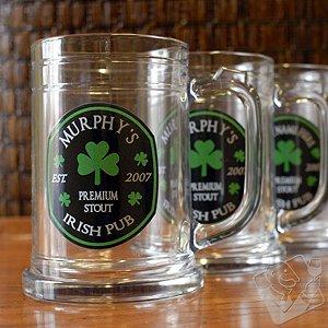 Personalized Irish Pub Beer Mugs (Set of 4)