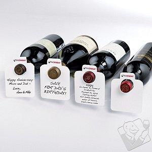 White Reusable Wine Bottle Tags