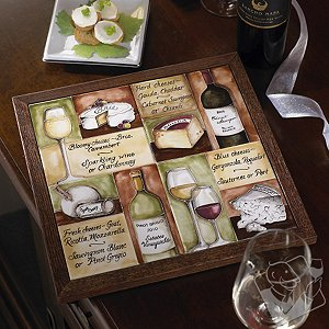 Wine and Cheese Pairings Tile Board