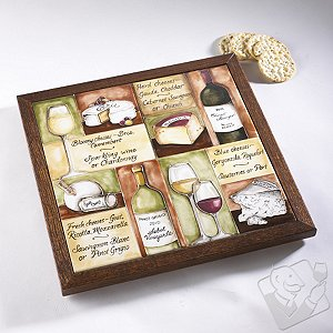 Personalized Wine and Cheese Pairings Tile Board