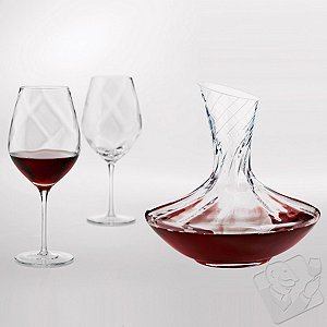 Allure Aerating Cabernet / Merlot / Bordeaux Wine Glasses & Decanter Set (Set of 3)