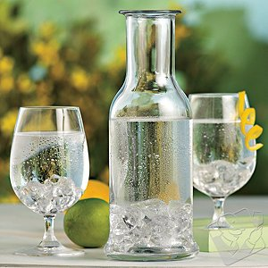 Stolzle Stemmed Water Glasses & Carafe (Set of 7)