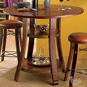 Vintage Oak Bistro Table