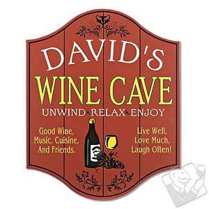 Personalized Wine Cave Sign