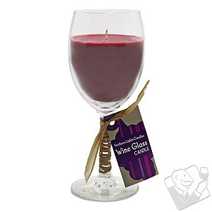 Cabernet Scented Wine Glass Candle