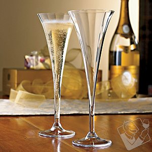 Optic Crystal Champagne Flutes (Set of 2)