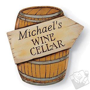 Personalized Wine Cellar Barrel Sign