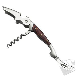 Elite Two-Step Ratchet Corkscrew (Wood Handle-Walnut)