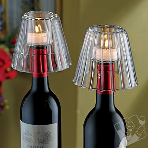 Wine Bottle Tealight Lampshade