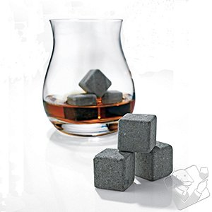 Glencairn Wide-Bowl Whisky Glasses and Arctic Rocks Set