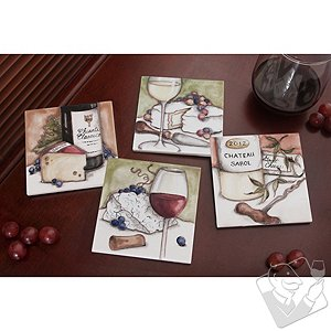 Personalized Wine and Cheese Pairings Coasters