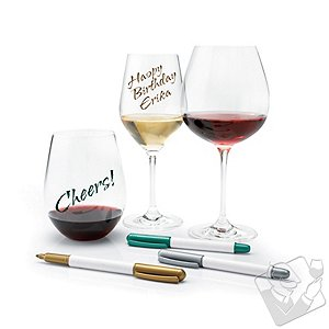 Wine Glass Writer Metallic Pen