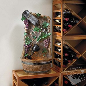 Wine Bottle Grapevine Fountain