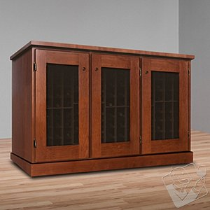 Vinotheque Basic Window Credenza with NFINITY Cooling Unit
