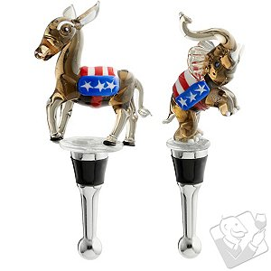 Political Bottle Stoppers (Set of 2)