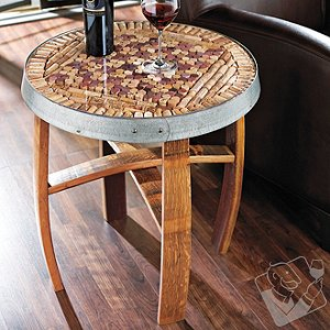 Barrel Stave Cork Kit Table