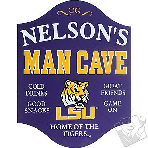 LSU Tigers Man Cave Sign