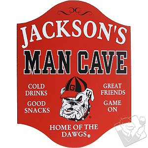 Georgia Bulldogs Man Cave Sign