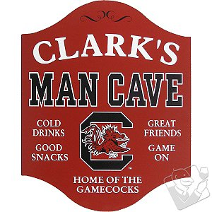South Carolina Gamecocks Man Cave Sign