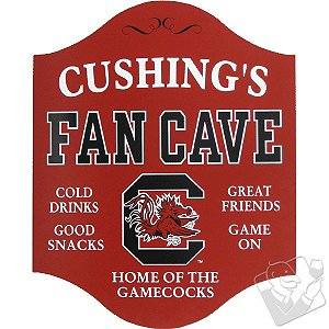 South Carolina Gamecocks Fan Cave Sign