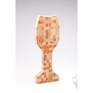 Wine Glass Shaped Butcher Block