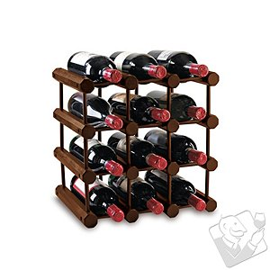 Modular 12 Bottle Wine Rack (Walnut)