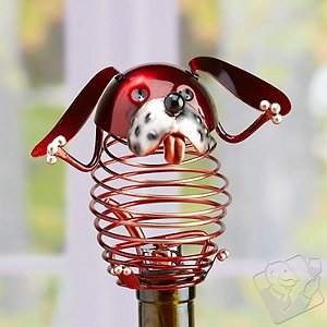 Figurine Metal Wine Bottle Stopper - Dog