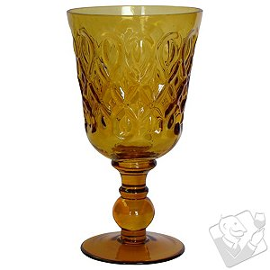 Teardrop Goblet (Amber) (Set of 4)