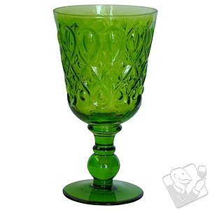 Teardrop Goblet (Green) (Set of 4)