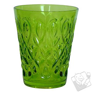 Teardrop Juice Glass (Green) (Set of 4)