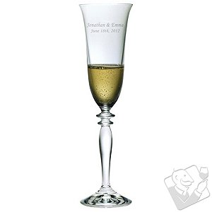 Personalized 6 oz Harmony Champagne Flutes (Set of 2) First Name & Date