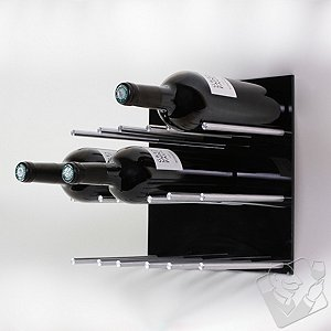Vin de Garde XY Series 3X3 Modular Wine Wall Panel (Black)