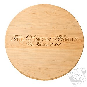 Personalized Maple Lazy Susan (18 inches)
