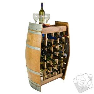 Reclaimed Wine Barrel 24 Bottle Wine Rack